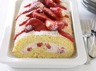 Çilekli Rulo Pasta Tarifi 1 – Pasta Tarifleri