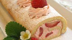 Çilekli Rulo Pasta Tarifi 2 – Pasta Tarifleri