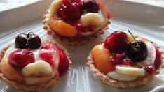 Meyveli Minik Tart Tarifi- Kek Tarifleri