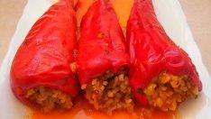Kırmızı Biber Dolması Tarifi – Zeytinyağlı Tarifler