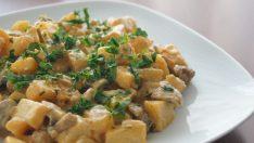 Kremalı Mantarlı Patates Tarifi – Sebze Yemekleri