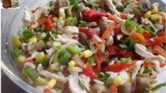 Mantarlı Mısırlı Salata Tarifi – Salata Tarifleri
