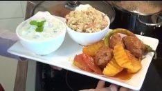 Tencerede Köfte Patates ve Şehriyeli Tereyağlı Bulgur Pilavi Tarifi – Bugün Ne Pişirsem?