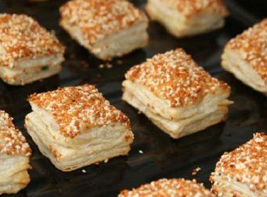 Simit tadında milföylü börek tarifi