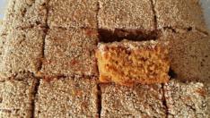 Pekmezli tahinli susamlı kek tarifi